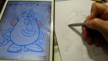 How to draw Toy Story Mrs. Potato Head for kids Как нарисовать История игрушек  Mrs. Potato Head