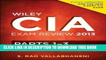 Ebook Wiley CIA Exam Review 2013, Complete Set (Parts 1 - 3) Free Read