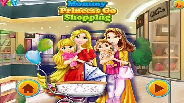Mommy Princess Go Shopping - Disney Princess Rapunzel and Belle Best Games For Kids