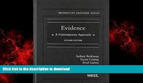 Best book  Evidence: A Contemporary Approach, 2nd Edition (Interactive Casebook) (Interactive