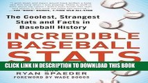 [PDF] FREE Incredible Baseball Stats: The Coolest, Strangest Stats and Facts in Baseball History