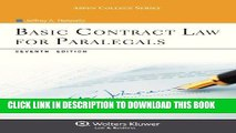 Ebook Basic Contract Law for Paralegals, Seventh Edition (Aspen College) Free Read