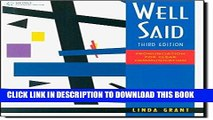 Ebook Well Said: Pronunciation for Clear Communication Free Download
