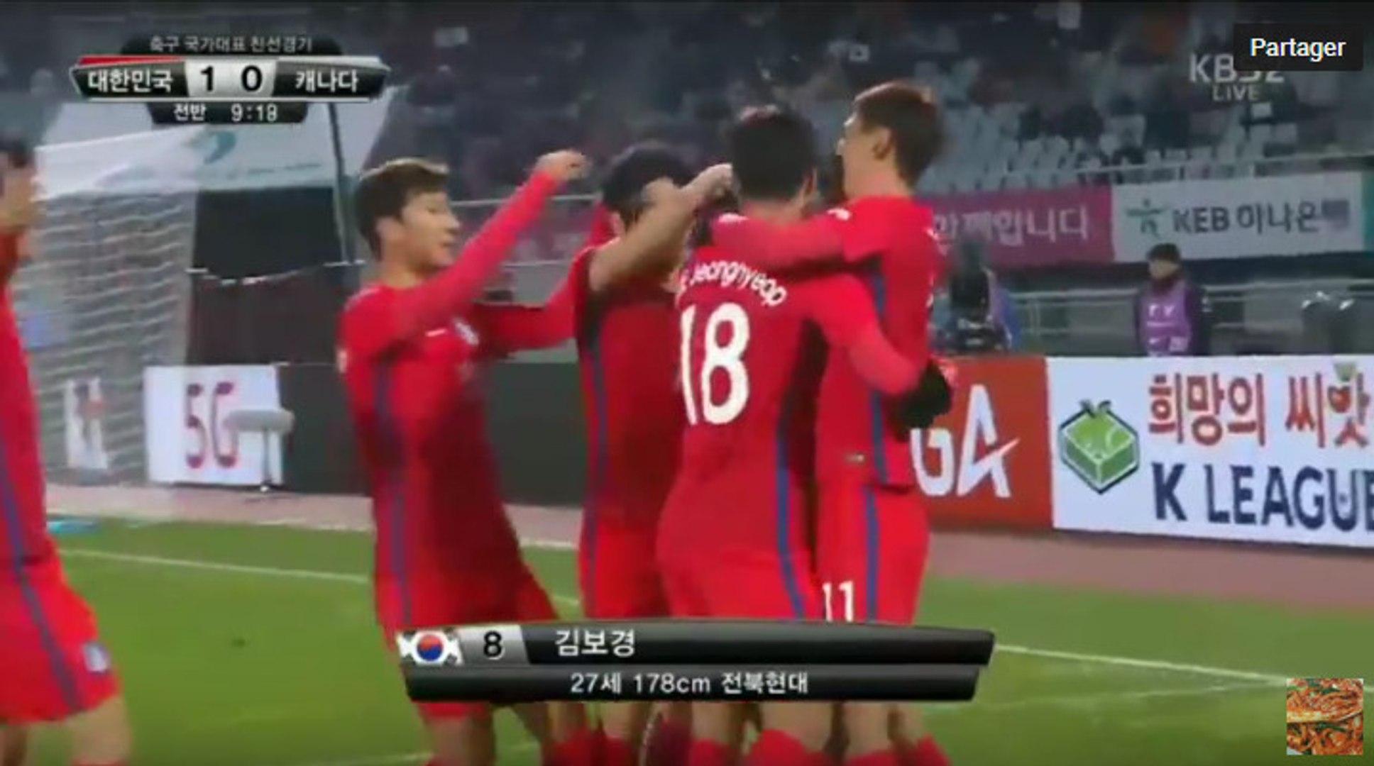 Kim Bo-Kyung Goal - South Korea 1-0 Canada - (11/11/2016)