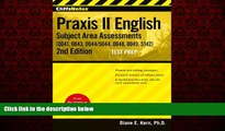 READ book  CliffsNotes Praxis II English Subject Area Assessments (0041, 0043, 0044/5044, 0048,
