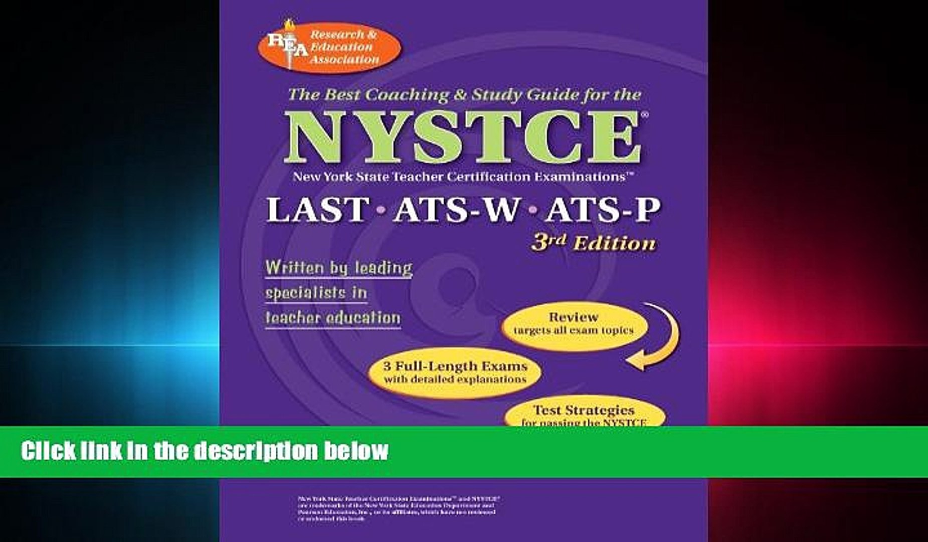 FREE PDF  NYSTCE LAST, ATS-W, ATS-P (REA) - The Best Test Prep for the NYSTCE: LAST/ATS W   P