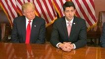 Trump, GOP leaders unite against Obamacare