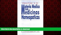Read books  Materia Medica de Medicinas Homeopaticas (Spanish Edition) online for ipad