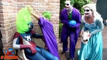 BAD BABY JOKER BOY vs Joker Mom vs Joker Dad BALLOON PRANK w/ Captain Spiderman Joker Family FUN 4K
