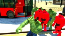Nursery Rhymes Wheels on the Bus Goes Round and Round with Hulk Avengers Songs for Children