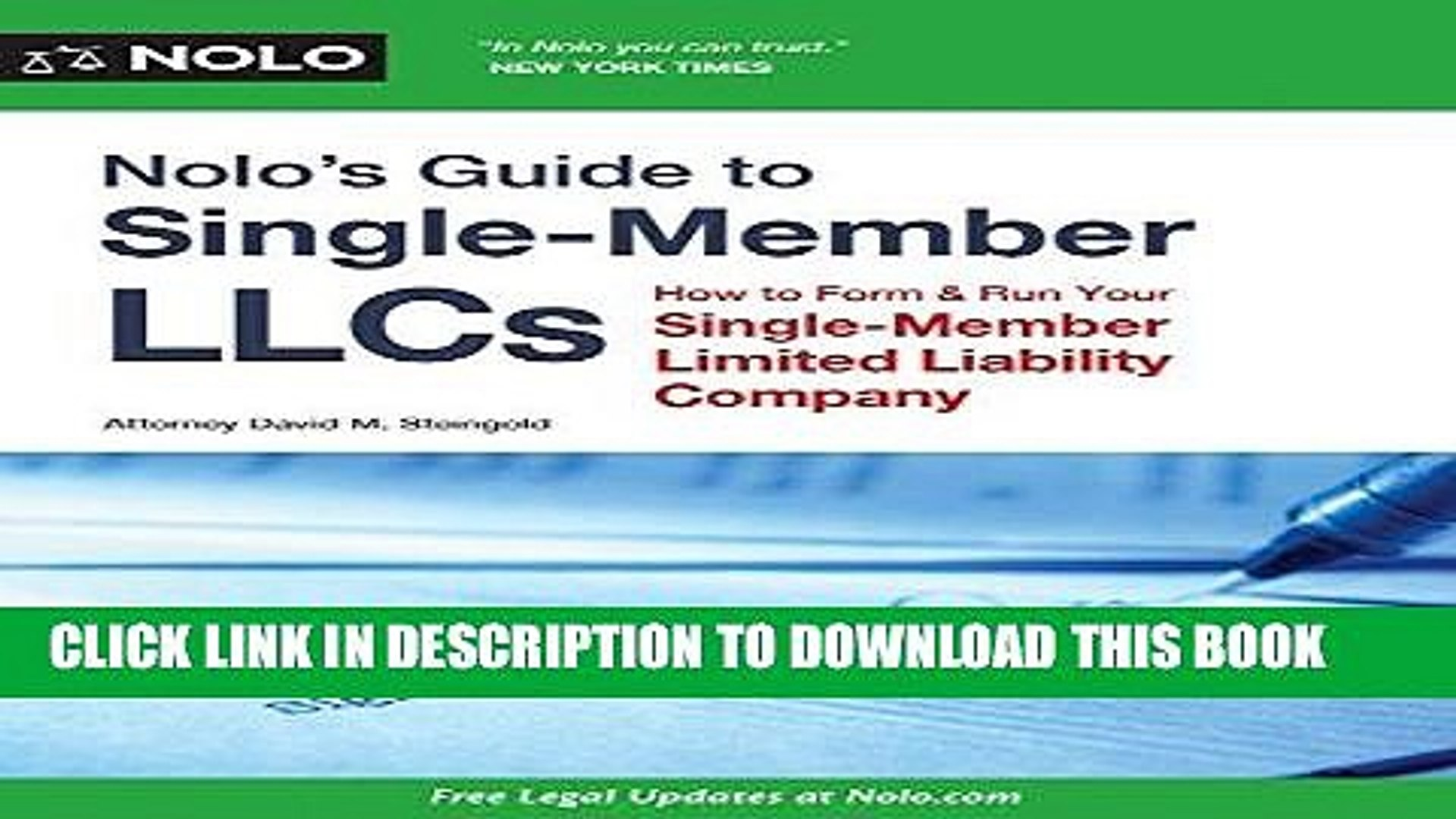 Best Seller Nolo s Guide to Single-Member LLCs: How to Form   Run Your Single-Member Limited