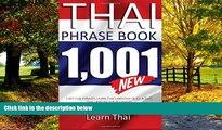 Best Buy Deals  Thai Phrasebook: 1,001 Thai Phrases, Learn Thai Language Quick and Easy,  Thai