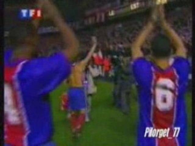 PSG-LA COROGNE 95-96, tour d'honneur