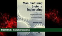PDF Download Manufacturing Systems Engineering A Unified