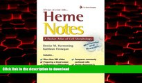 Buy book  Heme Notes: A Pocket Atlas of Cell Morphology online for ipad