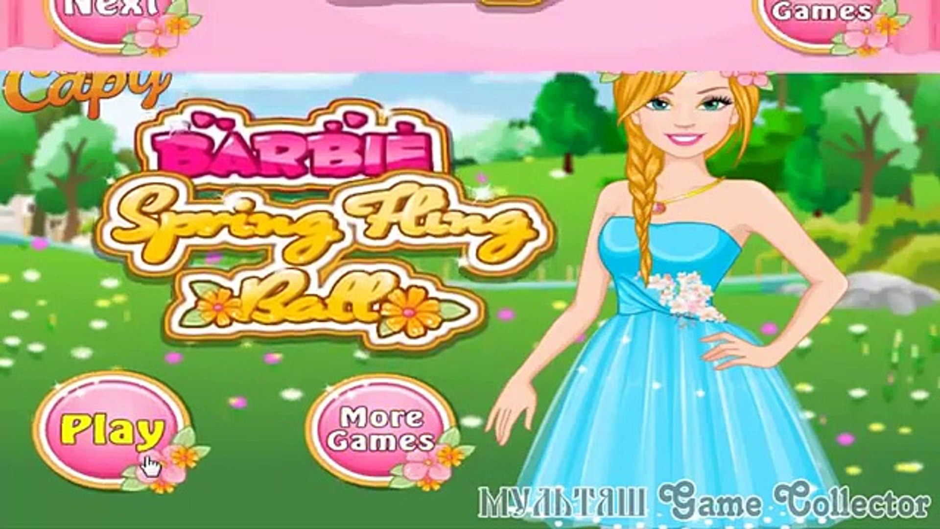 Barbie Spring Fling Ball Full Episode   Барби приготовления на Весений Бал