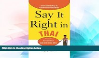 Ebook Best Deals  Say It Right in Thai: The Fastest Way to Correct Pronunciation (Say It Right!