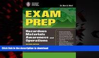 Buy books  Exam Prep: Hazardous Materials Awareness And Operations (Exam Prep: Hazardous Materials