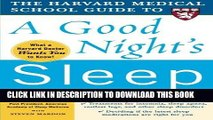 Ebook The Harvard Medical School Guide to a Good Night s Sleep (Harvard Medical School Guides)