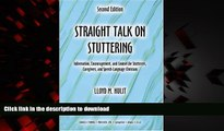 Buy book  Straight Talk on Stuttering: Information, Encouragement, and Counsel for Stutterers,