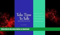 Buy book  Take Time to Talk: A Resource for Apraxia Therapy, Esophageal Speech Training, Aphasia