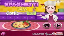 Cooking Games Spaghetti With Garlic And Basil | Игры на приготовление еды - Спагетти с чесноком