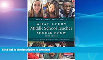 GET PDF  What Every Middle School Teacher Should Know, Third Edition FULL ONLINE