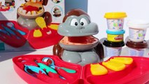Dr. Drill MONKEY DENTIST Play Doh Cavity Fill Set + Doctor Barbie Doll Playdoh Patient Playset