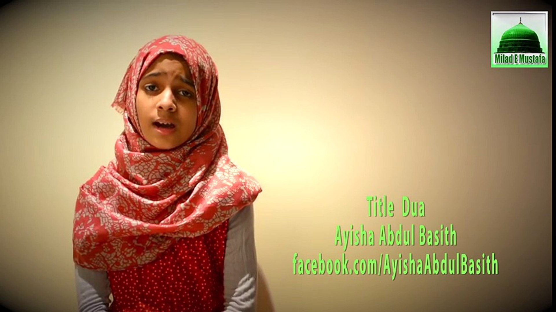 Beautiful Dua Karam Mangti Hoon Dua By Beautiful Little Ayisha Abdul Basith _ Naat Available on Ch