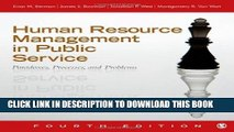 [PDF] Human Resource Management in Public Service: Paradoxes, Processes, and Problems Full Online