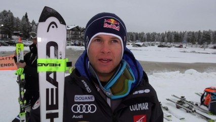Slalom Levi 2016 - Alexis Pinturault - Pré Course - Vidéo FFS/Eurosport