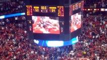 University of Wisconsin Badgers vs. Arizona Wildcats Final Seconds at Honda Center NCAA Final Four Anaheim California