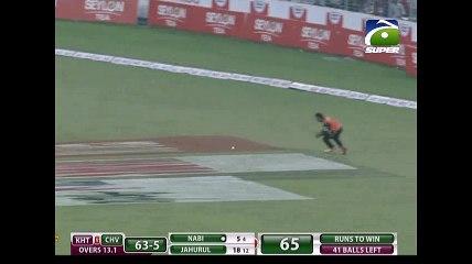Mohammad Nabi batting vs Khulna Titans in BPL 2016