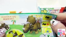 Play Doh Peppa Pig with George Dinosaur Surprise Eggs Giant Toys Peppas Family Play Dough Episodes