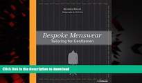 Buy book  Bespoke Menswear: Tailoring for Gentleman online