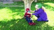 Spiderman Flies Pink Spidergirl Elsa Hulk Lady Deadpool Batman vs Joker Funny Pranks Spidey