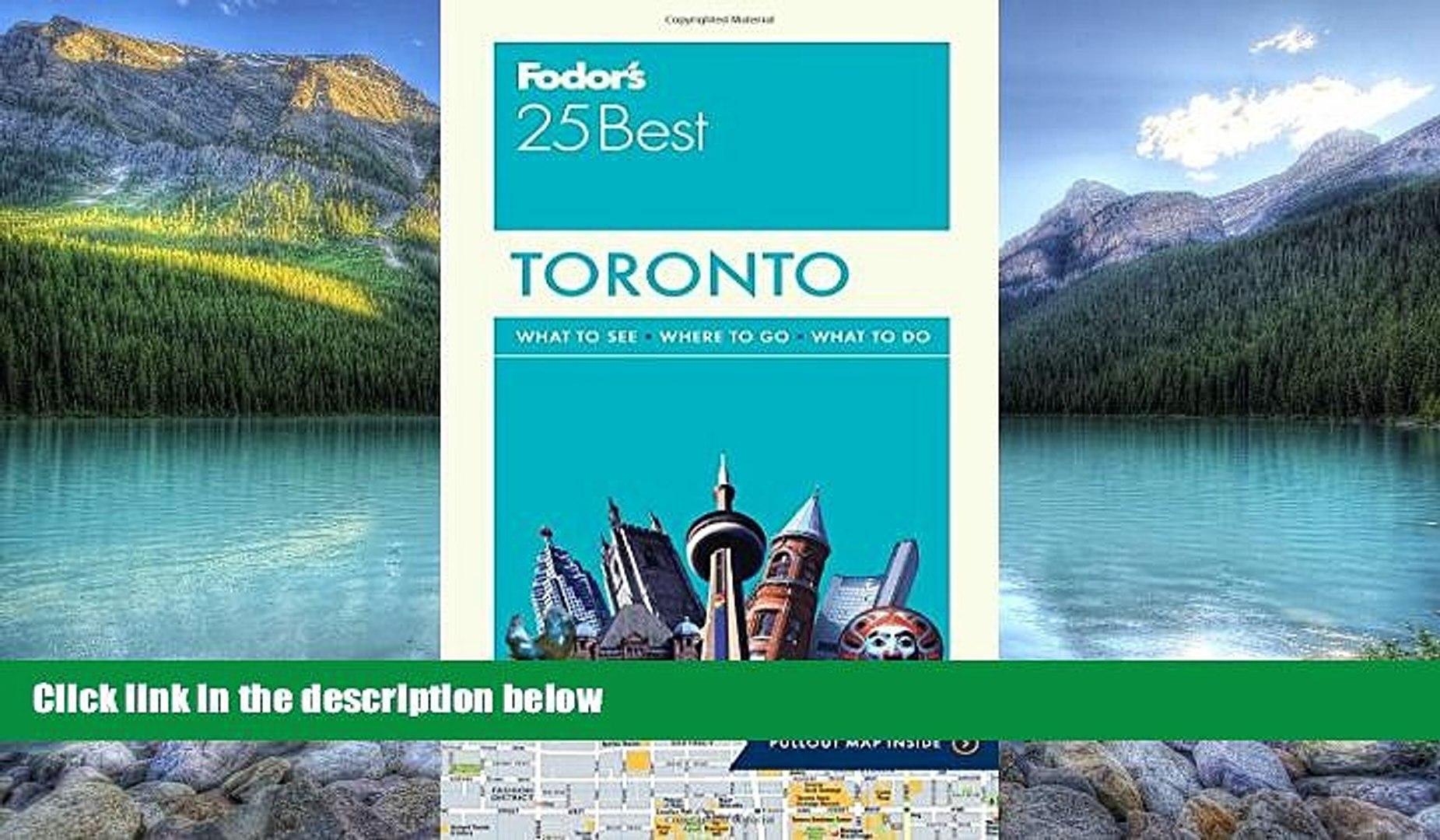 Fodors Toronto 25 Best
