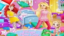 disney princess games - Princess Pijama Party - Frozen Elsa and rapunzel, ariel dress up games