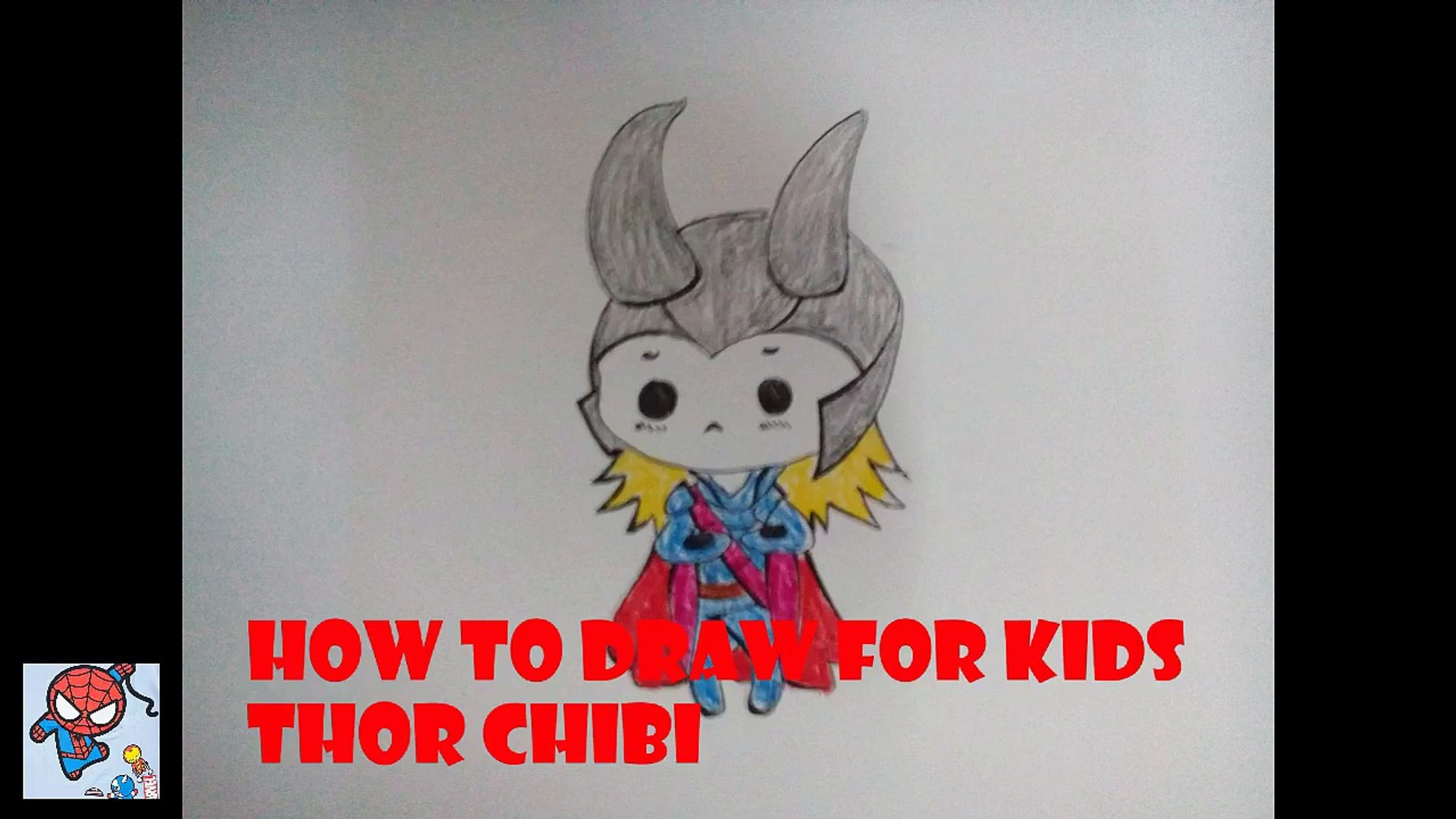 How to draw Thor - How to draw for kids