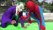 Pink Spidey Girl touch nates Frozen Elsa Spiderman vs Joker Funny Pranks Video SuperGirl Super Hero