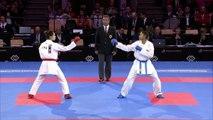 Female Kumite Bronze -55 Tzu-Yun Wen TPE V Syakilla Salni Jerry Krishnan MAS 2016 WKF World Championships