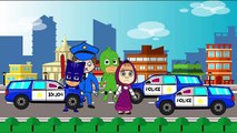 #Masha And The Bear with #PJ Masks Catboy Gekko Owlette #Crying in #Prison policeman parody