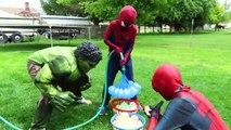 SpiderMan Pink Spidergirl Slip n Slide vs Hulk vs Deadpool vs Joker Funny Pool Party Prank Video