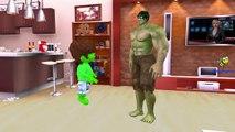 Johny Johny Yes Papa Nursery Rhymes Hulk Cartoons For Kids | Johny Johny Yes Papa Rhymes