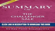 Ebook Summary of The Challenger Sale: Taking Control of the Customer Conversation by Brent Adamson