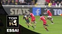 TOP 14 ‐ Essai Semi KUNATANI (ST) – La Rochelle-Toulouse – J11 – Saison 2016/2017