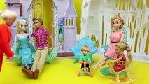 Frozen Elsa with BROWN HAIR!!! Elsa as a Brunette Barbie Hair Salon and Color Makeover DisneyCarToys
