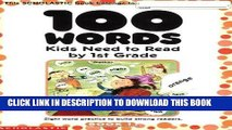 Best Seller 100 Words Kids Need to Read by 1st Grade: Sight Word Practice to Build Strong Readers