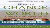 Best Seller How to Change the World: Social Entrepreneurs and the Power of New Ideas, Updated