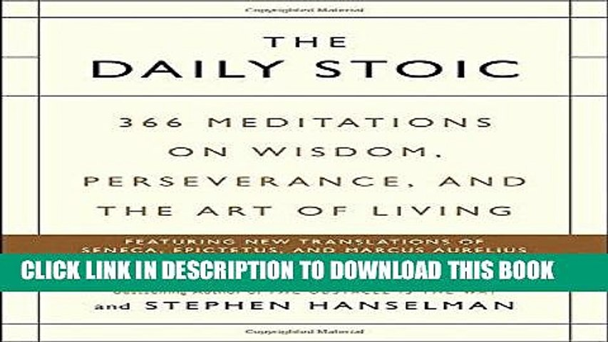 Best Seller The Daily Stoic: 366 Meditations on Wisdom, Perseverance, and the Art of Living Free